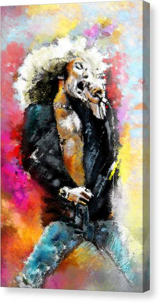 Robert Plant Canvas Print - Robert Plant 03 by Miki De Goodaboom