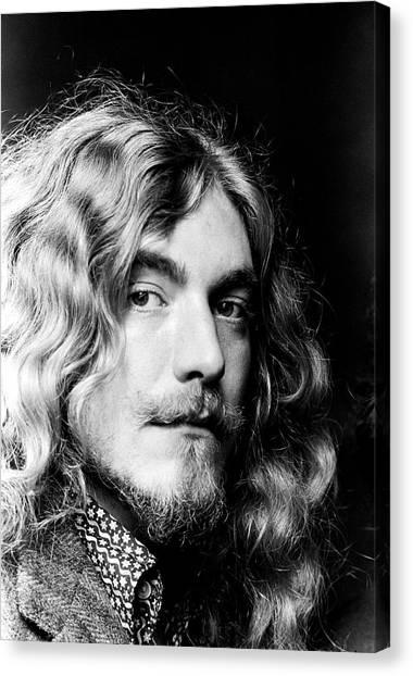 Robert Plant Canvas Print - Robert Plant Led Zeppelin 1971 by Chris Walter