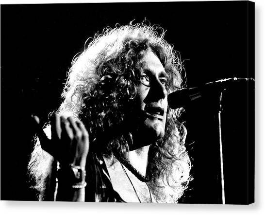 Robert Plant Canvas Print - Robert Plant 1975 by Chris Walter