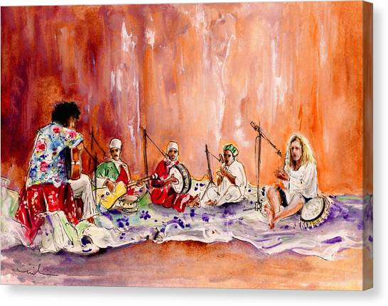 Robert Plant Canvas Print - Robert Plant And Jimmy Page In Morocco by Miki De Goodaboom