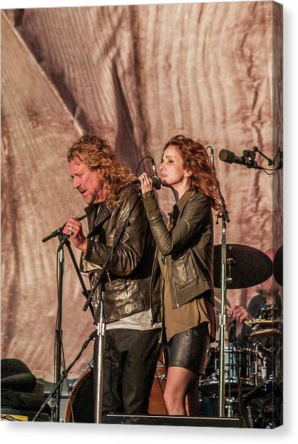 Robert Plant Canvas Print - Robert Plant And Patty Griffin by Bill Gallagher