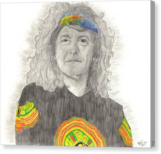 Robert Plant Canvas Print by Bari Titen