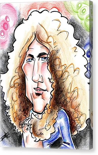 Robert Plant Canvas Print by Big Mike Roate