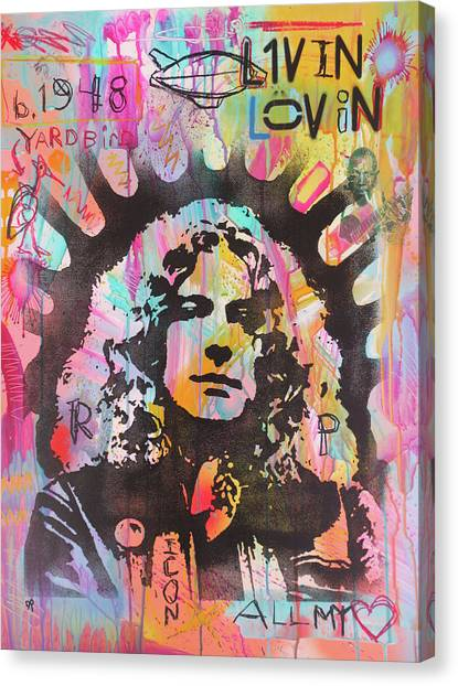 Robert Plant Canvas Print - Robert Plant by Dean Russo Art
