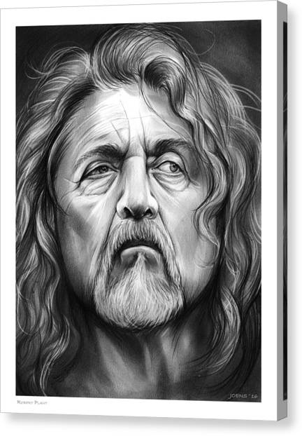 Robert Plant Canvas Print - Robert Plant by Greg Joens
