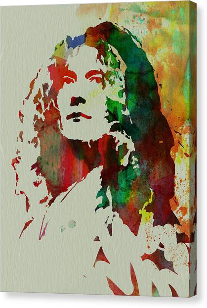 Robert Plant Canvas Print - Robert Plant by Naxart Studio
