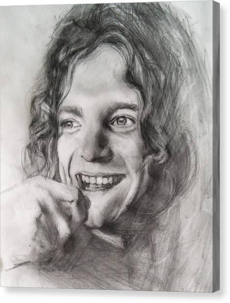 Led Zepplin Canvas Print - Robert Plant  by John Balestrino