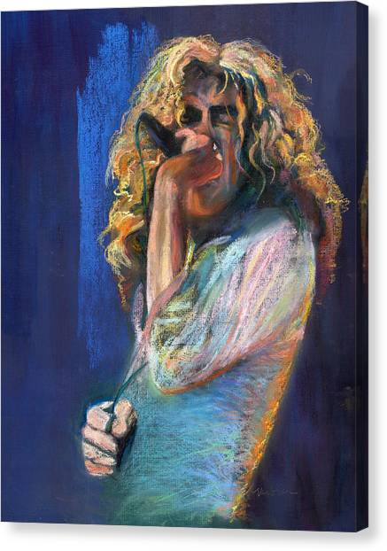 Robert Plant Canvas Print - Robert Plant by Laurie VanBalen