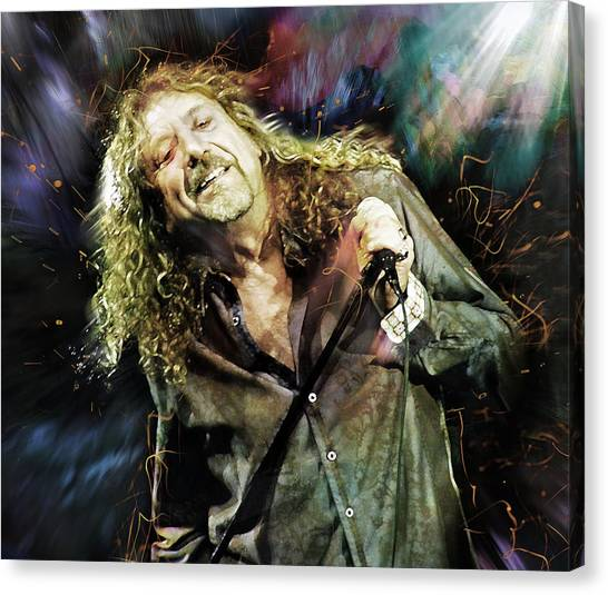 Robert Plant Canvas Print - Robert Plant by Mal Bray