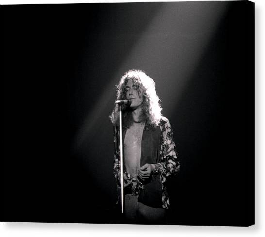 Robert Plant Canvas Print - Robert Plant Of Led Zeppelin by Mike Norton