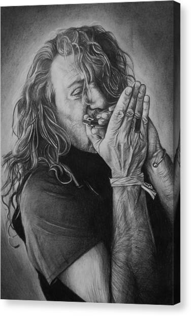 Robert Plant Canvas Print - Robert Plant by Steve Hunter
