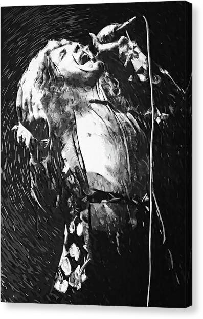 Robert Plant Canvas Print - Robert Plant by Zapista