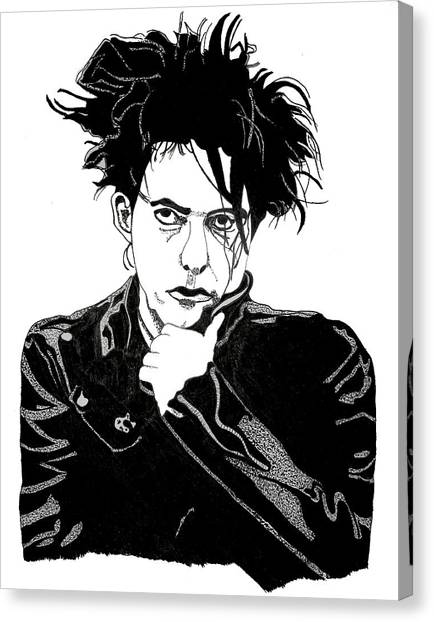 Robert Smith Music Canvas Print - Robert Smith 1 by Christine Perry