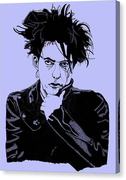 Robert Smith Music Canvas Print - Robert Smith 2 by Christine Perry