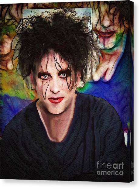 Robert Smith Music Canvas Print - Robert Smith A Good Soul Large Vers by Robert Radmore