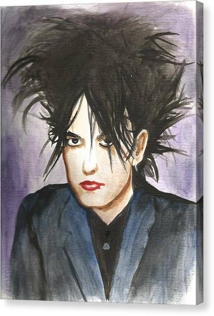Robert Smith Music Canvas Print - Robert Smith by Amber Stanford