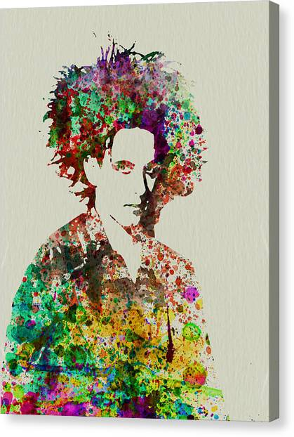 Robert Smith Music Canvas Print - Robert Smith Cure 2 by Naxart Studio