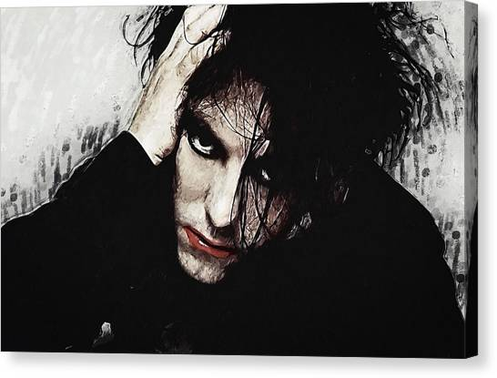 Robert Smith Music Canvas Print - Robert Smith - The Cure  by Zapista