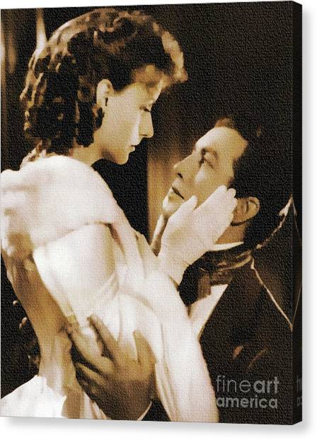Robert Taylor And Greta Garbo Canvas Print