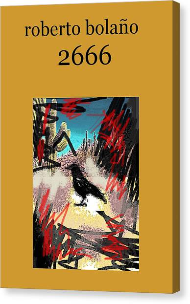 Imaginary Worlds Canvas Print - Roberto Bolano 2666 Poster  by Paul Sutcliffe
