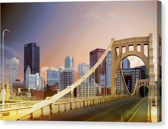 Roberto Clemente Canvas Print - Roberto Clemente Bridge, Pittsburgh by Art Spectrum