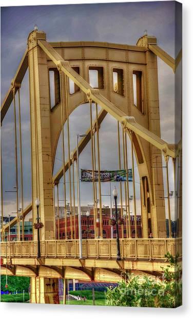 Roberto Clemente Canvas Print - Roberto Clemente Bridge Tower by David Bearden