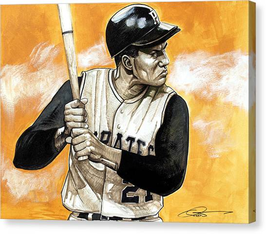 Roberto Clemente Canvas Print - Roberto Clemente by Dave Olsen