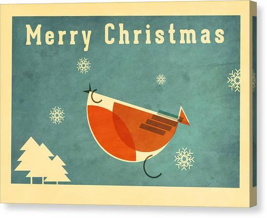 Santa Claus Canvas Print - Robin 1 by Daviz Industries