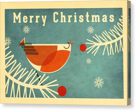 Santa Claus Canvas Print - Robin 3 by Daviz Industries