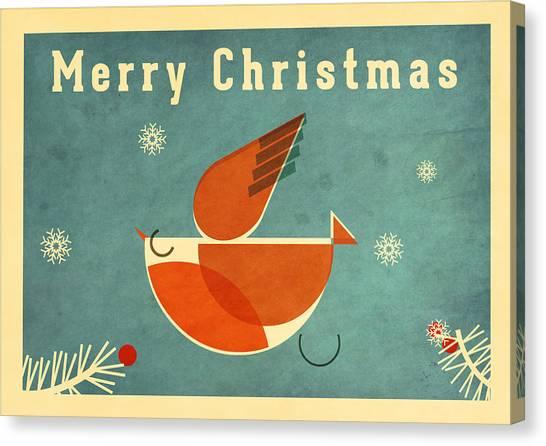 Santa Claus Canvas Print - Robin 4 by Daviz Industries