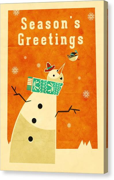 Santa Claus Canvas Print - Robin by Daviz Industries