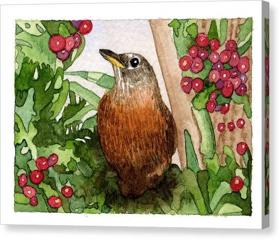 Robin Canvas Print by Eunice Olson
