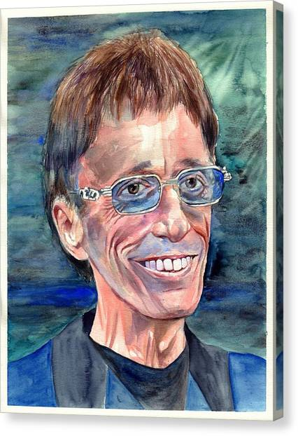 Robin Canvas Print - Robin Gibb Bee Gees by Suzann's Art