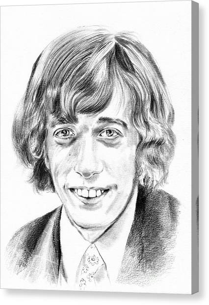 Gin Canvas Print - Robin Gibb Drawing by Suzann's Art