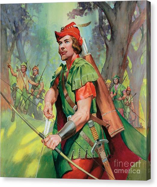 Robin Canvas Print - Robin Hood by James Edwin McConnell
