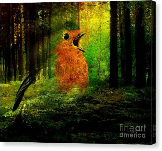 Robin In The Forest Canvas Print