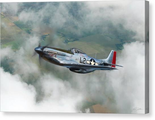 Robin Canvas Print - Robin Olds Scat Vi by Peter Chilelli