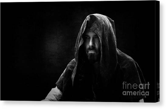 Sherwood Forest Canvas Print - Robin - The Hooded Man by Esoterica Art Agency