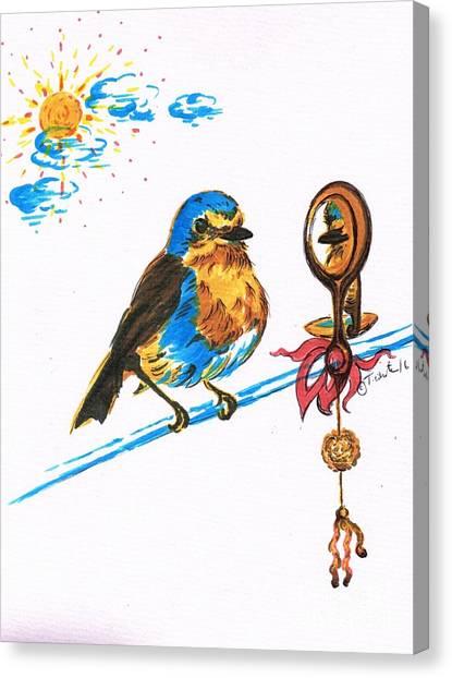 Robins Day Tasks Canvas Print