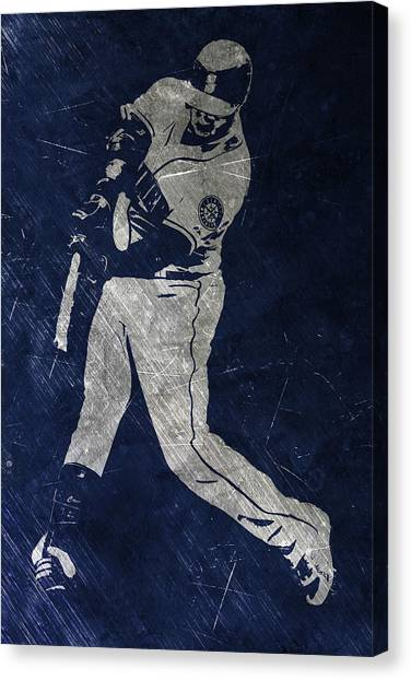 Seattle Mariners Canvas Print - Robinson Cano Seattle Mariners Art by Joe Hamilton