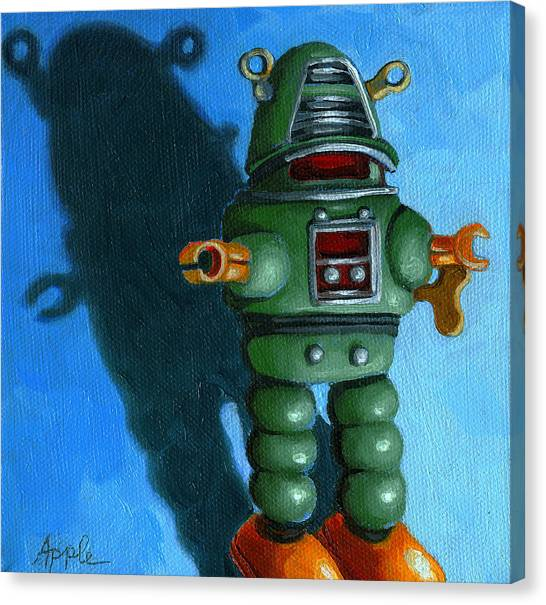 Robot Dream - Realism Still Life Painting Canvas Print