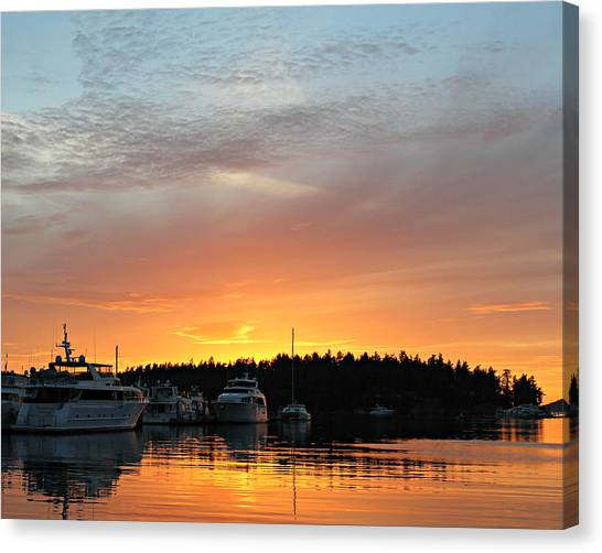 Roche Harbor Sunset Canvas Print