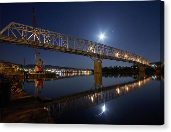 Rochester-monaca Bridge Canvas Print by Thomas DiVittis