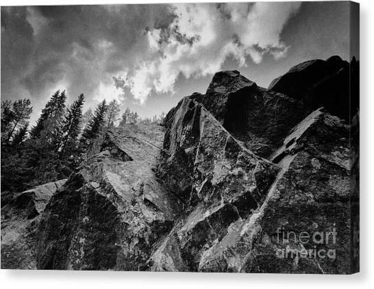 Rock #9542 Bw Version Canvas Print
