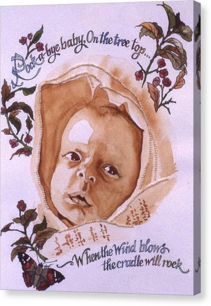 Rock A Bye Baby Canvas Print by Victoria Heryet