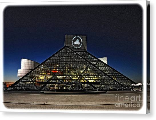 Rock And Roll Hall Of Fame - Cleveland Ohio - 5 Canvas Print