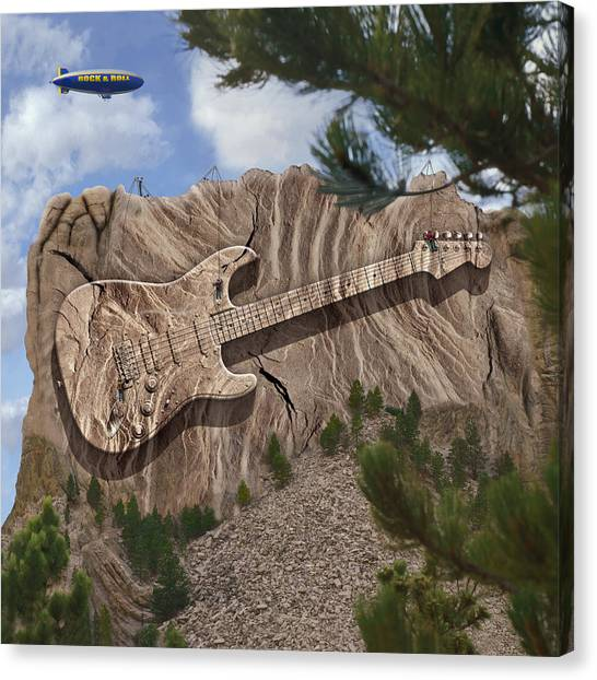 Blimps Canvas Print - Rock And Roll Park by Mike McGlothlen