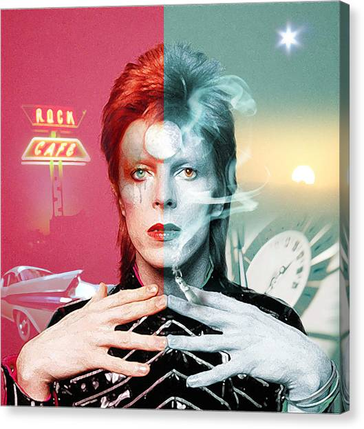 David Bowie Canvas Print - Rock And Roll Suicide by Mal Bray