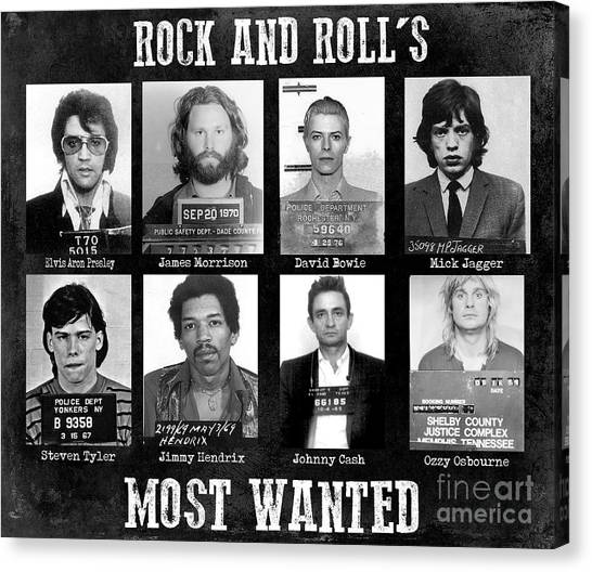 Aerosmith Canvas Print - Rock And Rolls Most Wanted by Jon Neidert