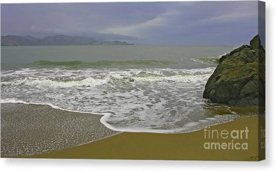 Rock And Sand Canvas Print